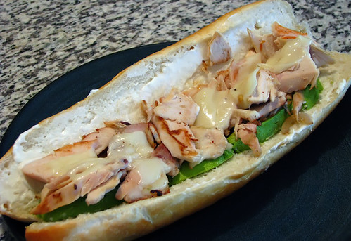 Chicken on Roll with Avocado