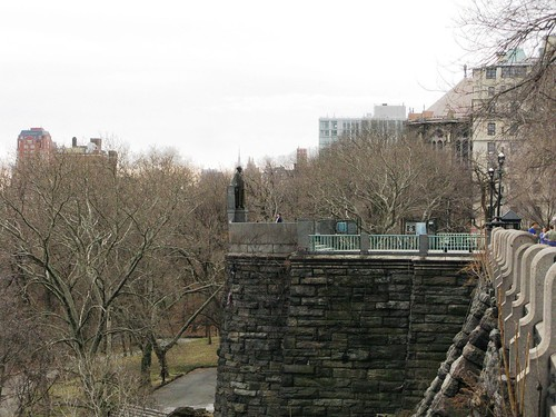 Morningside Heights.  When they say heights, they mean heights.  And if you look closely you can see the Empire State Building way off in the distance.