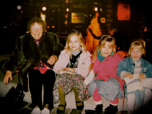 My sisters and my grandma in ghirardelli square.