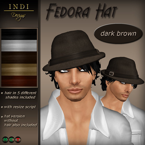 Fedora Hat dark brown