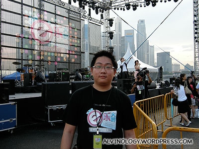 Me at the stage side