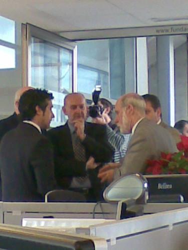 vinton cerf con paco prieto y pablo priesca en la Fundacion cTIC.