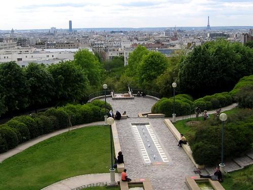 View of Paris from the Parc de Belleville.