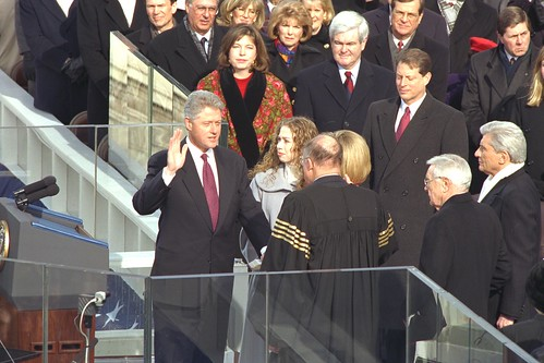 Clinton Inauguration - Swearing-in Ceremony