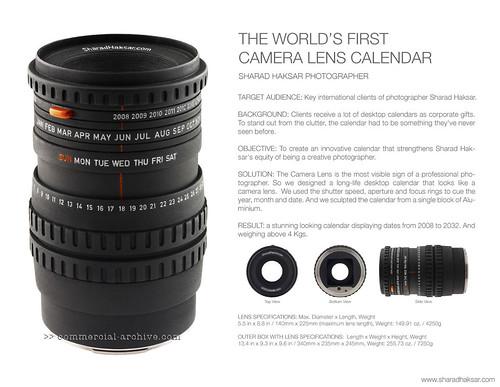 World's First Camera Lens Calendar
