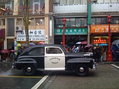 Old Vancouver Police Car during the 2009 Chine...