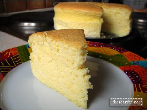 Orange-Vanilla Cotton Soft Cheesecake: A slice of soft goodness!