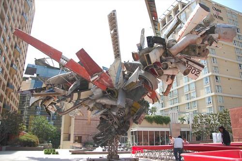 MOCA sculpture