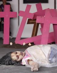 Performance contra feminicidios en juarez2