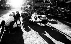 L'Ile Rousse plaza scene