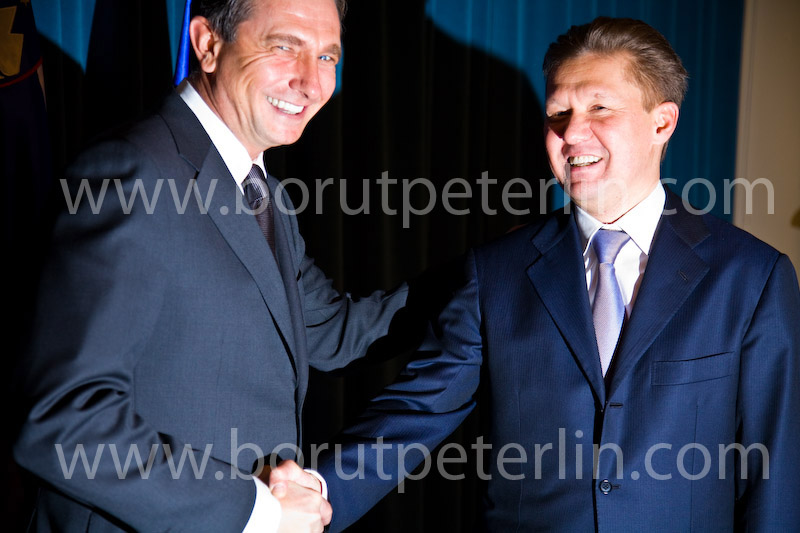 Borut Pahor and Alexei MIller Gazprom 20090116_1484