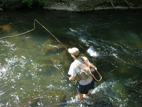 Alex Fishing the Gunpowder