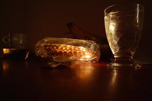 Vatten och bröd serverades ibland från pentryt.