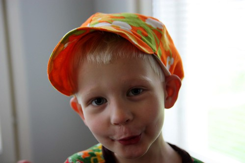 Niilo's new summer hat
