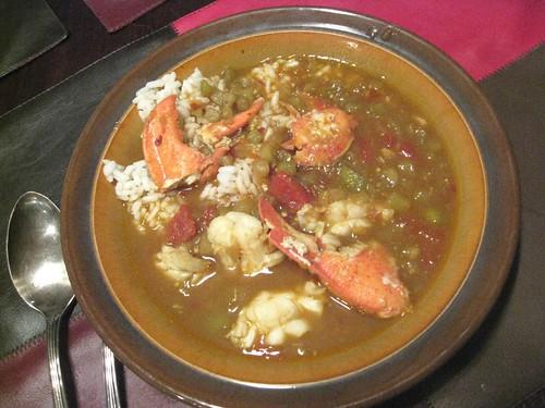 Eggplant Lobster Soup
