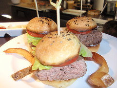 Details Burgers  Miniature Angus Beef Sliders, Black Sesame Brioche, Plum Tomato, Lettuce, House Made  Ketchup and Mayonnaise