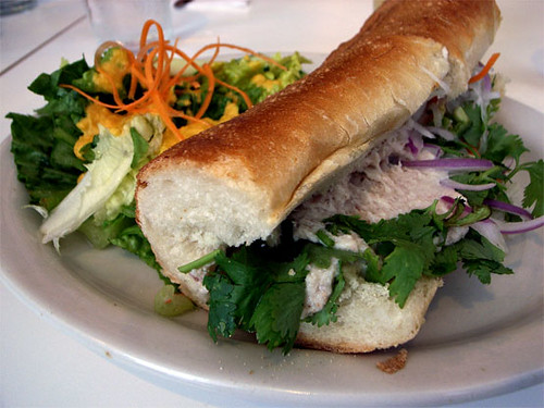 Smoked white fish salad sandwich