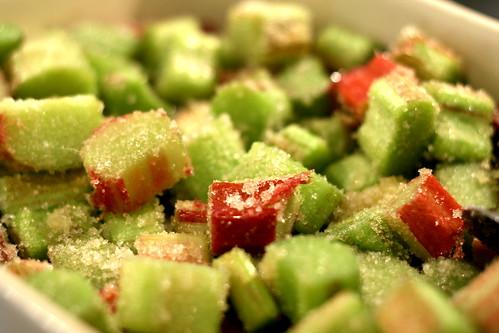 Making rhubarb crumble © dan&tuesday