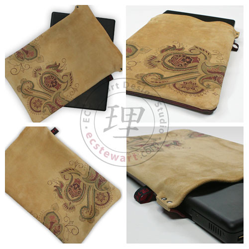 Wine Paisley - MacBook Sleeve