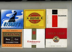 Cigarette packaging - 20s packets from UK  lat...