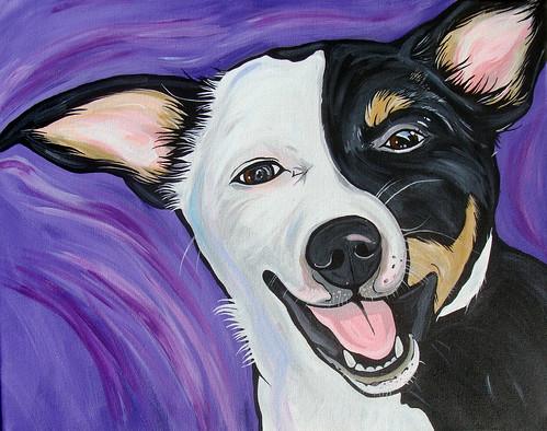 Rat Terrier Dog Art Painting