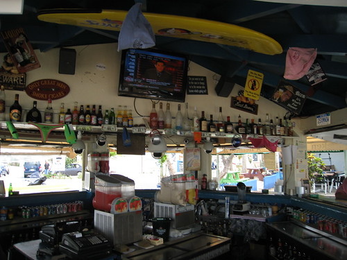 Sunset beach bar