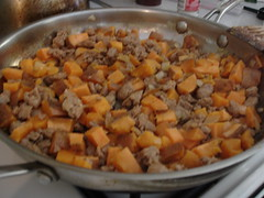 Sweet Potato and Sausage Hash