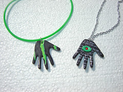 Duo of Monster Hands ~ Recycled Aluminum Cans