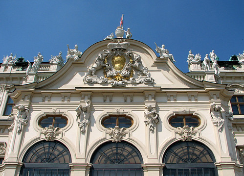 Facade of Upper Belvedere by you.