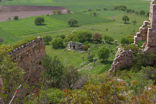 Karatepe - View of Church from Castle Ruin by you.
