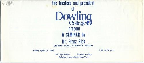 Dr. Franz Pick Seminar on the Minidollar