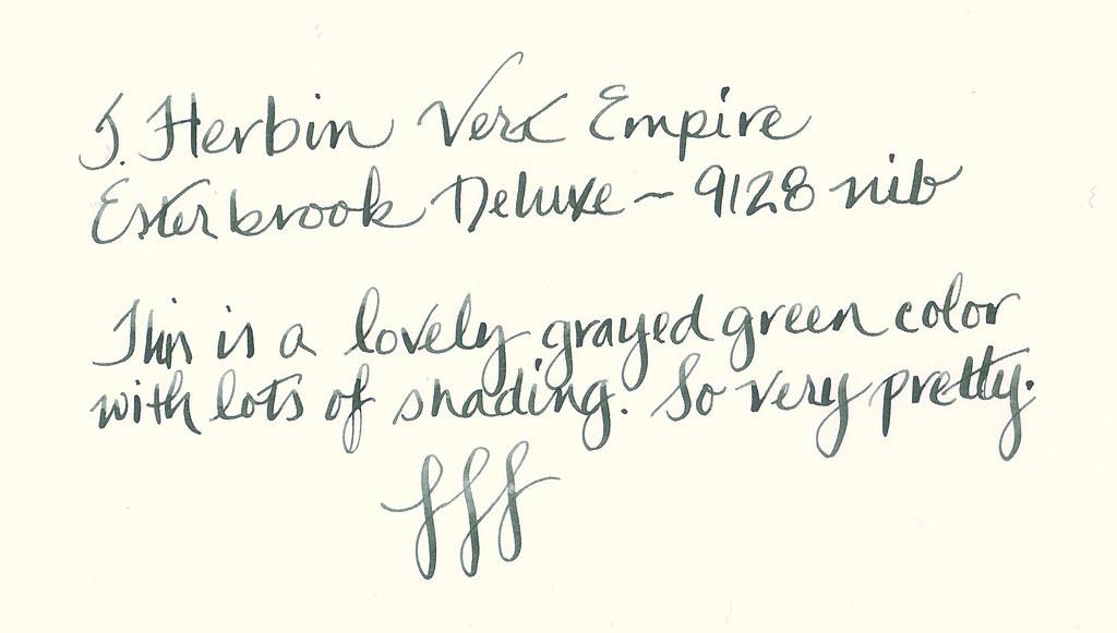 J. Herbin Vert Empire in an Esterbrook Deluxe