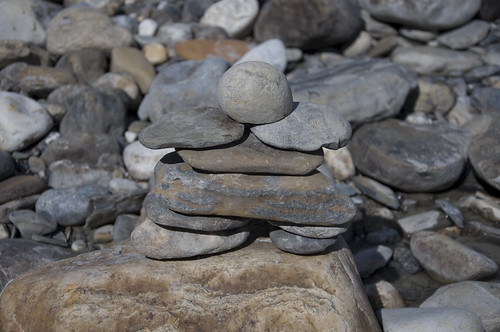 Inukshuk Structure to signify a marker used by the Inuits