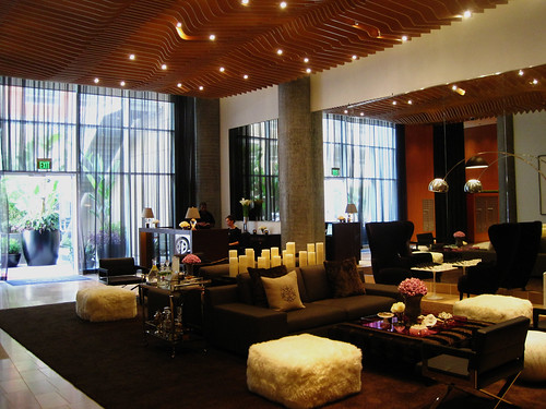 The residential lobby of the W.