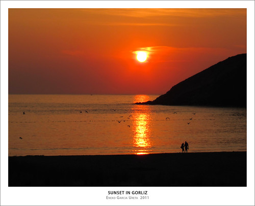 SUNSET IN GORLIZ
