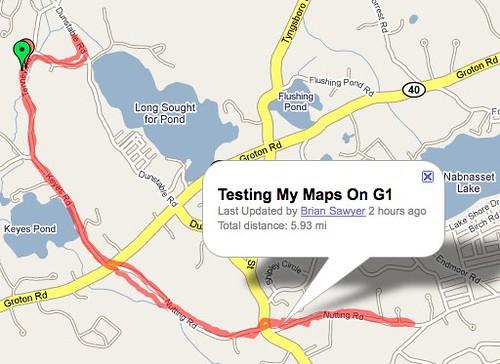 My Tracks on Google My Maps