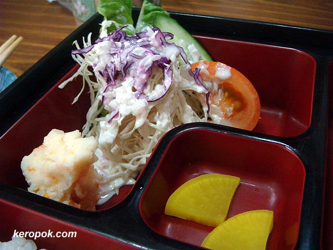 salad, vinaigrette/vegetable side, pickled radish