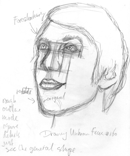 Drawing Unknown Faces, part 160, sketch 2
