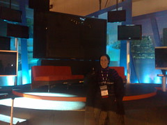 "in front of 150"" panasonic tv by LJRich"