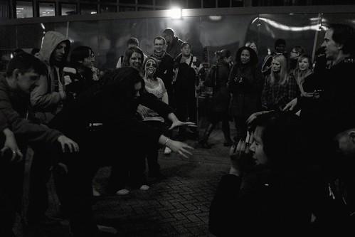 Zombie flashmob...