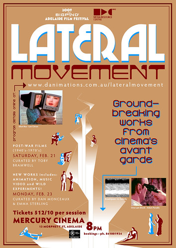 Lateral Movement: Art & the Moving Image (advertisement)