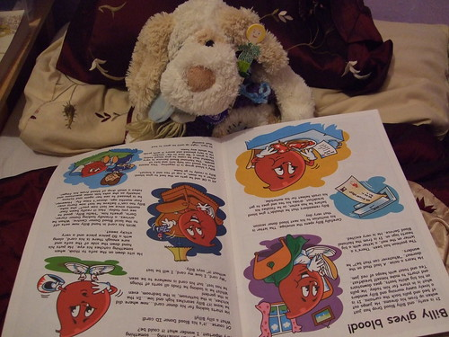 Mr T reading about Billy Blood Drop