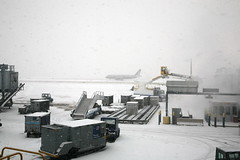 A Snowy Chicago O'Hare Airport