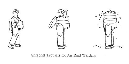 W. Heath Robinson comic about air raider pants