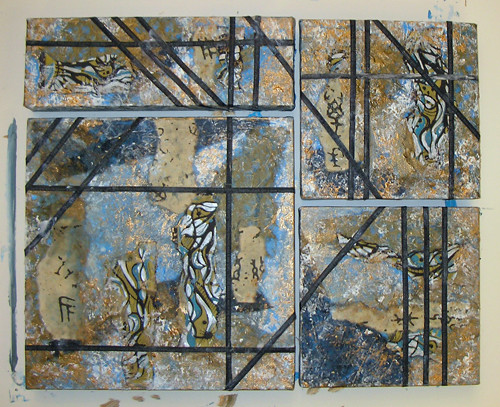 collage demo, work in progress, last step at library