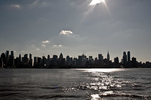 manhattan from ferry boat