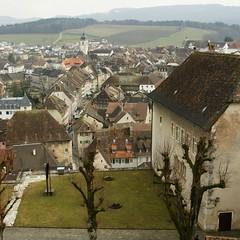 Blick auf die Altstadt Porrentruy