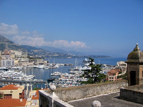 View of Monaco from the walk up to the palace.