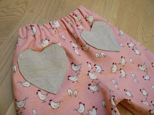 Chicken pants - back pockets