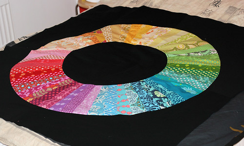 Color Wheel Quilt - on black